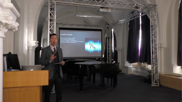 screenshot of Colin McGuire giving a talk on music and martial arts